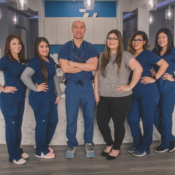 Dr. Duong and the Sunny Dental team