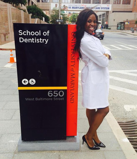 Dr. Okonedo at the University of Maryland dental school